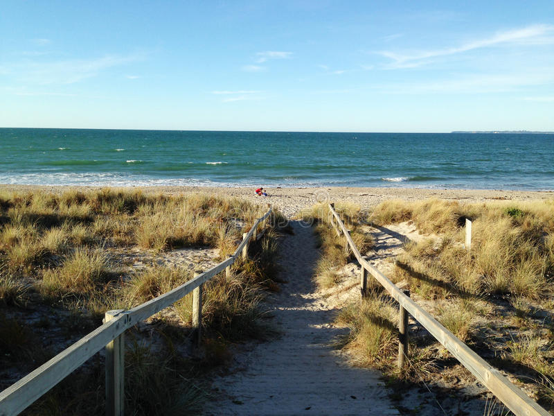 Chemin à la plage photographie stock