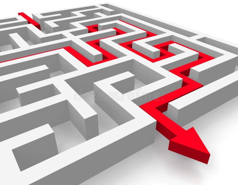 Chemin à travers le labyrinthe illustration libre de droits