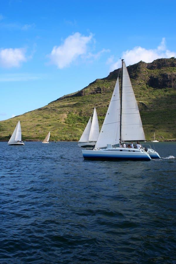 Chemin 1 de bateau à voiles image stock