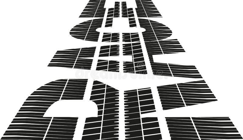 chemin illustration stock