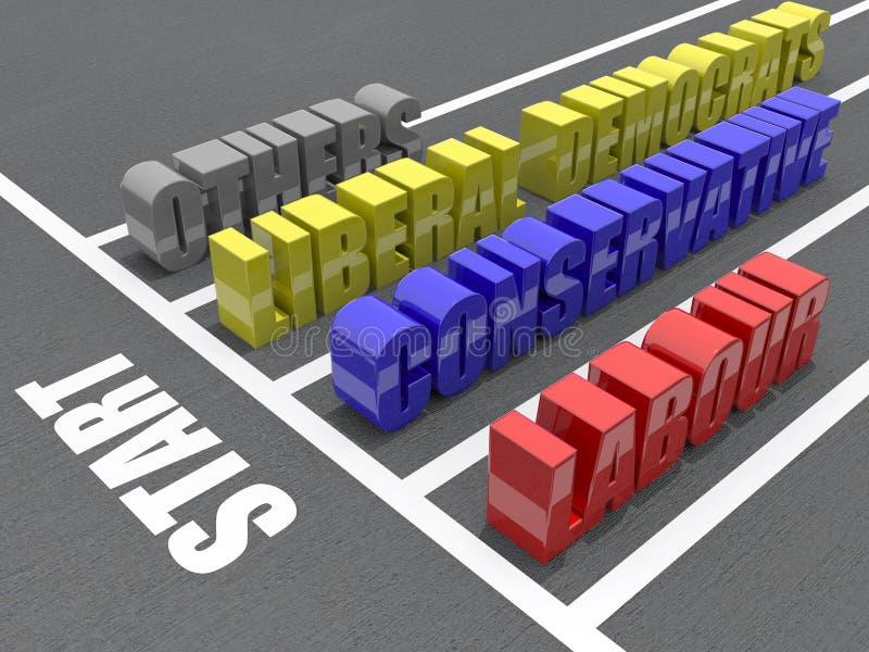 Chemin 2010 d'élection illustration libre de droits