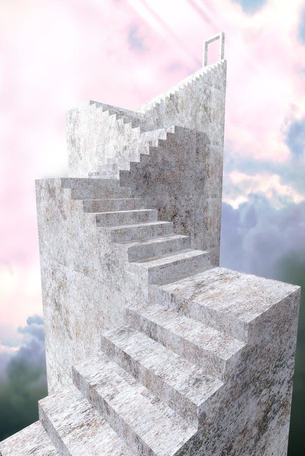 Chemin au ciel illustration de vecteur
