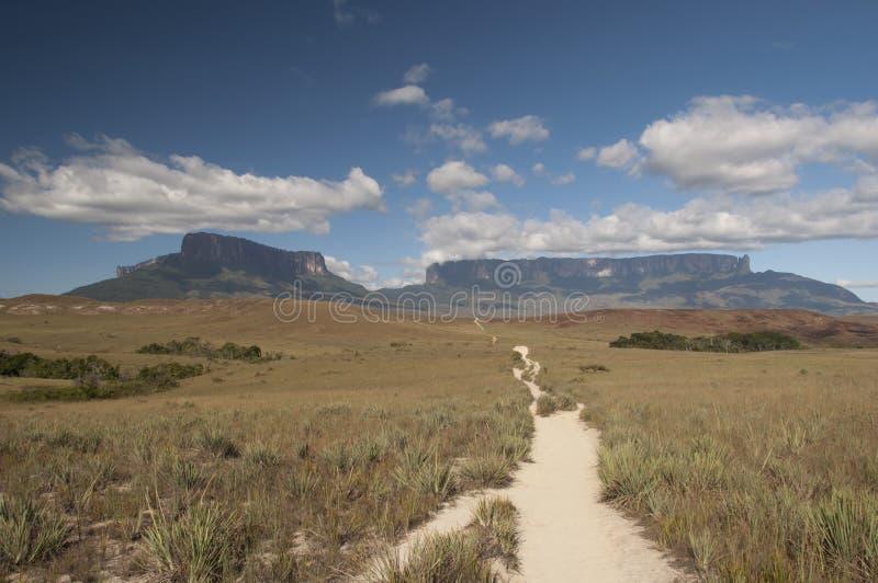 Chemin au plateau de Roraima photos stock