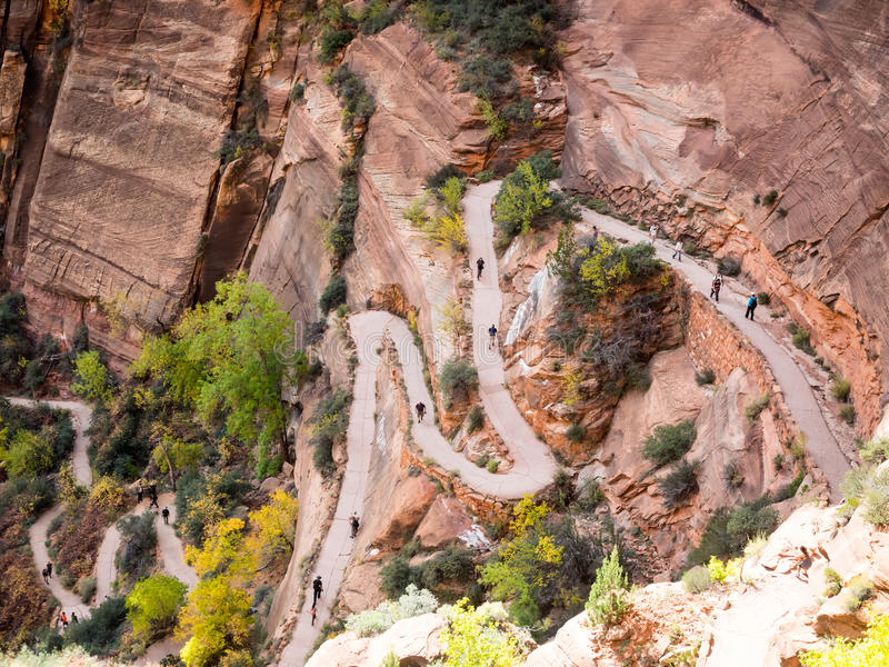 Chemin aux anges débarquant en parc national de Zion photographie stock