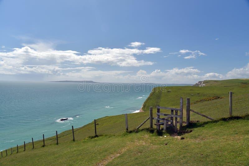 Chemin côtier de Dorset, porte de Durdle image stock