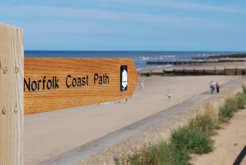 Chemin côtier de la Norfolk images stock