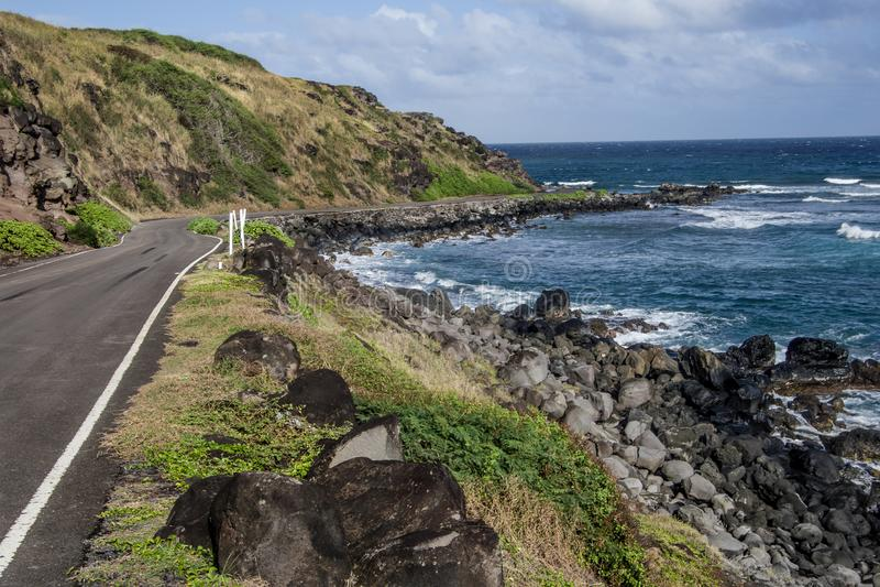 Chemin détourné côtier en Hawaï image stock