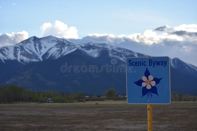Chemin détourné du Colorado photos stock