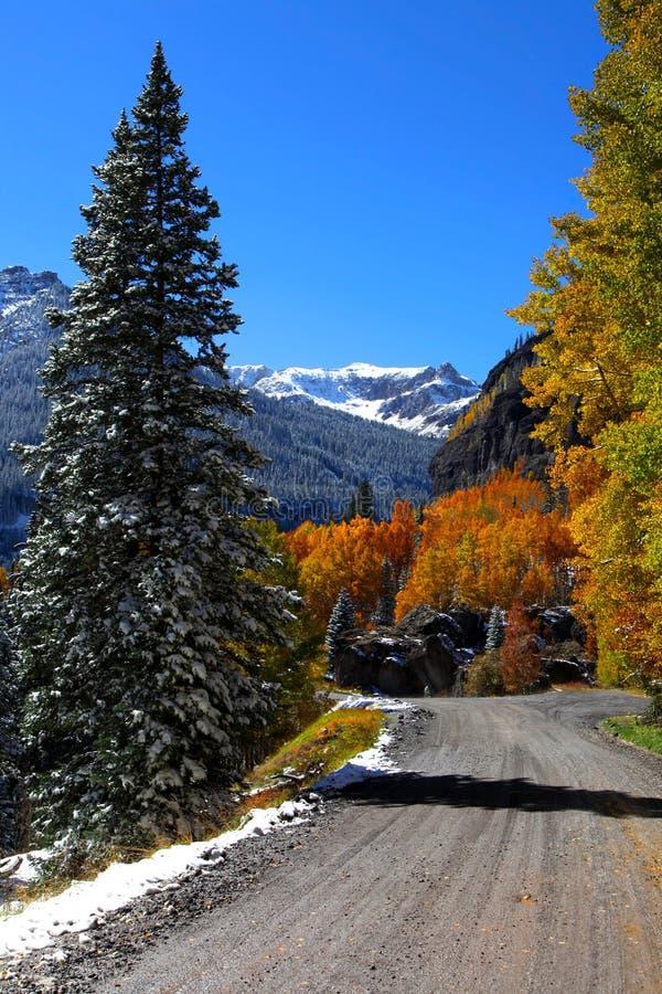 Chemin détourné scénique du Colorado photos libres de droits