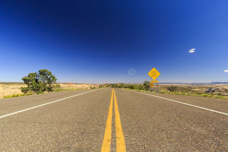 Chemin détourné scénique 12, Utah, Etats-Unis image stock