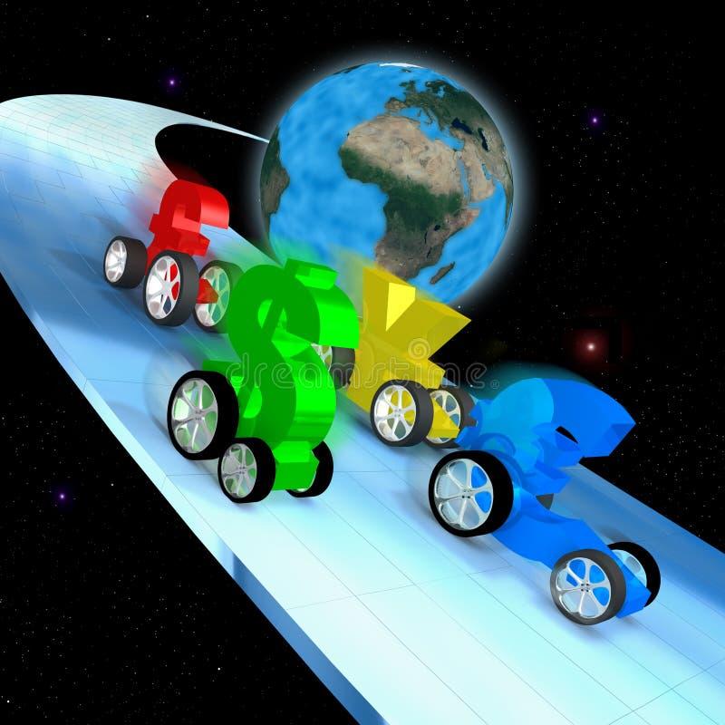 Chemin d'économie mondiale illustration stock