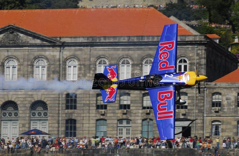 Chemin d'air de Red Bull image libre de droits