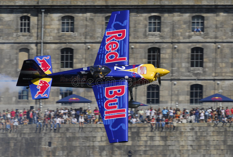 Chemin d'air de Red Bull photographie stock libre de droits