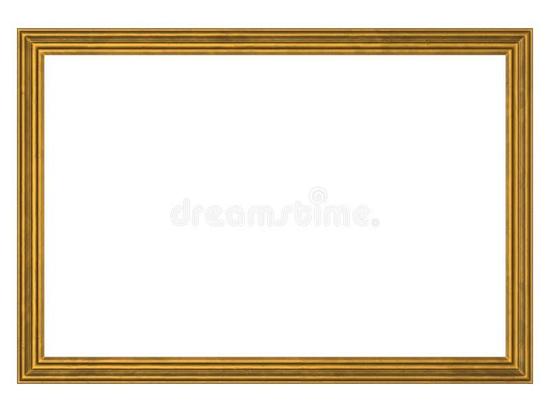 chemin d'or de trame de découpage illustration de vecteur