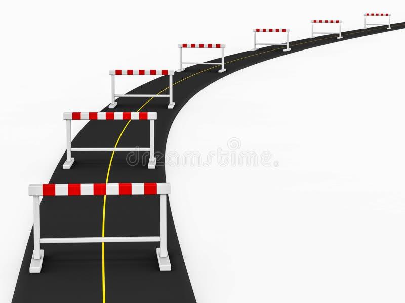 Chemin d'obstacle illustration libre de droits