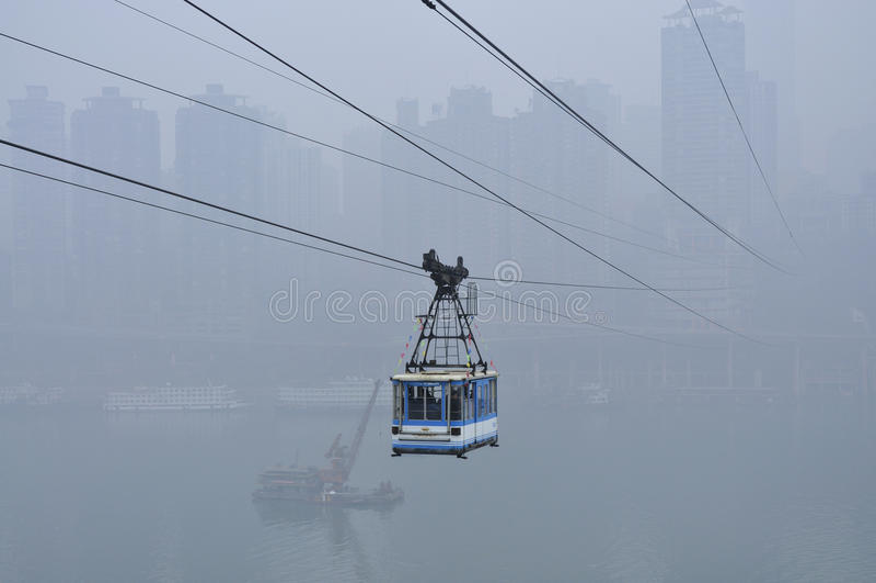 Chemin de câble de la Chine Chongqing image stock