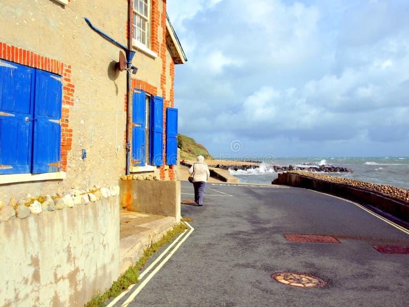 Chemin de côte, Bonchurch, île de Wight photographie stock