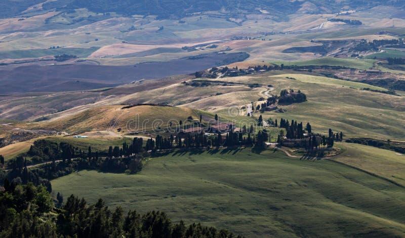Chemin de campagne en Toscane image stock