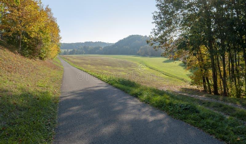 Chemin de cycle photographie stock libre de droits