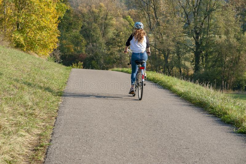 Chemin de cycle images stock