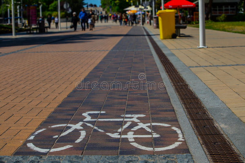Chemin de cycle photographie stock