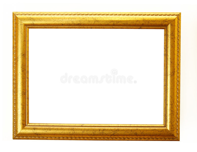 Chemin de découpage de trame d'or images libres de droits
