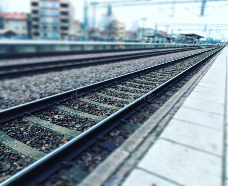 Chemin de fer à l'avenir photo stock