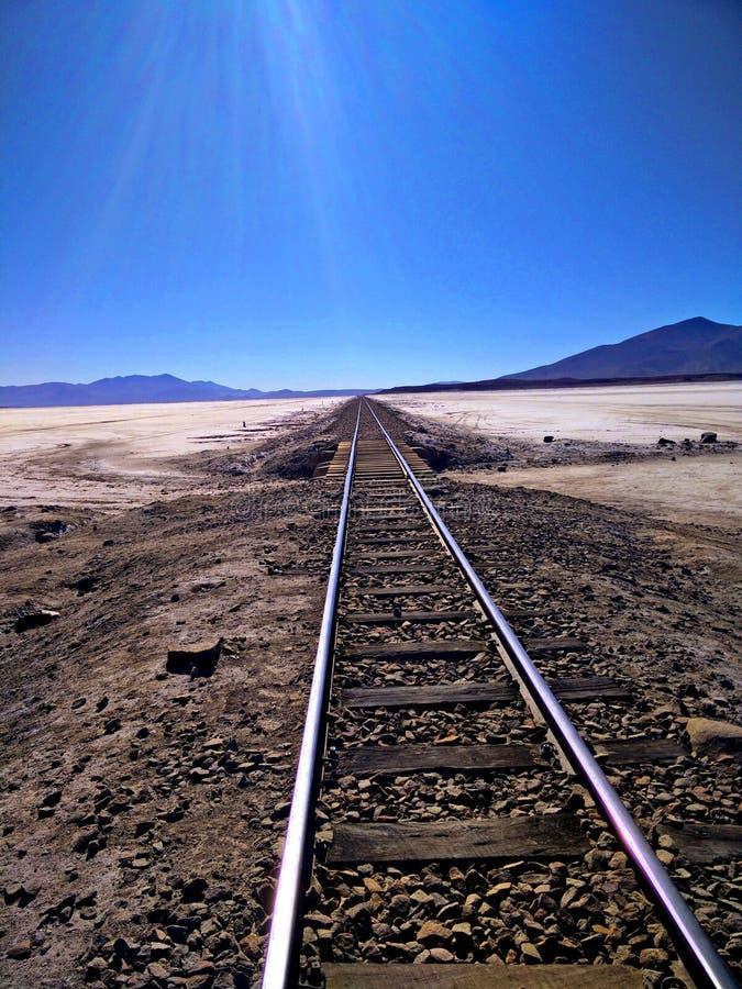 Chemin de fer à nulle part photo stock