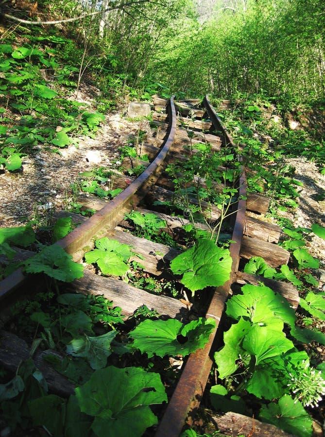 Chemin de fer abandonné photos stock