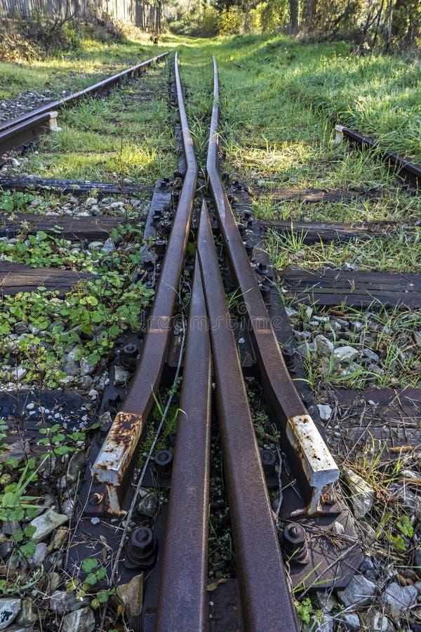 Chemin de fer abandonné photo libre de droits