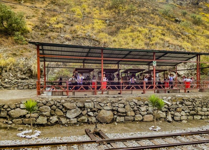 Chemin de fer au del Diablo Trip Alausi Ecuador de Nariz photos libres de droits