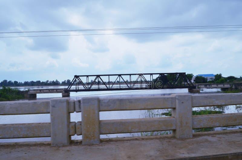 Chemin de fer, Cambodge images stock