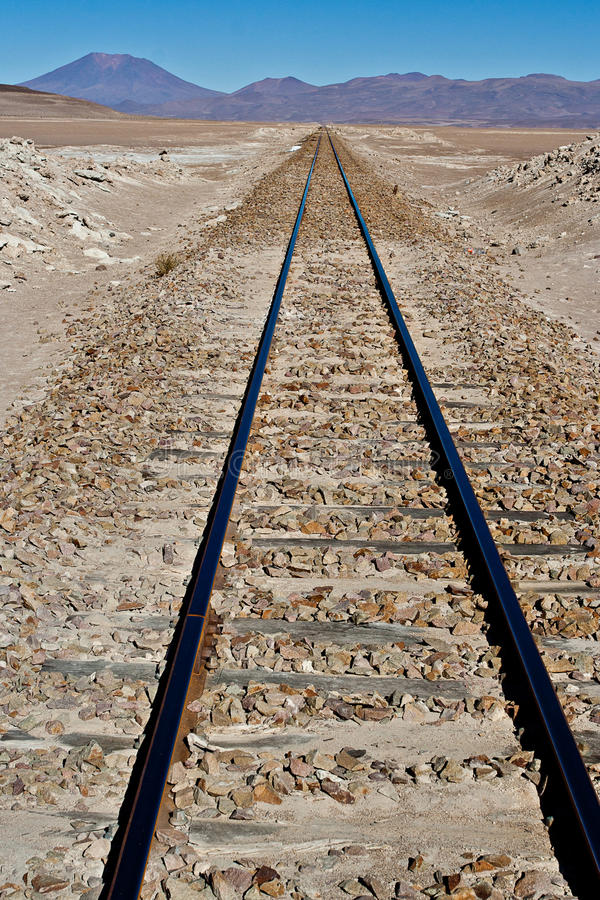 Chemin de fer d'haute altitude photos libres de droits