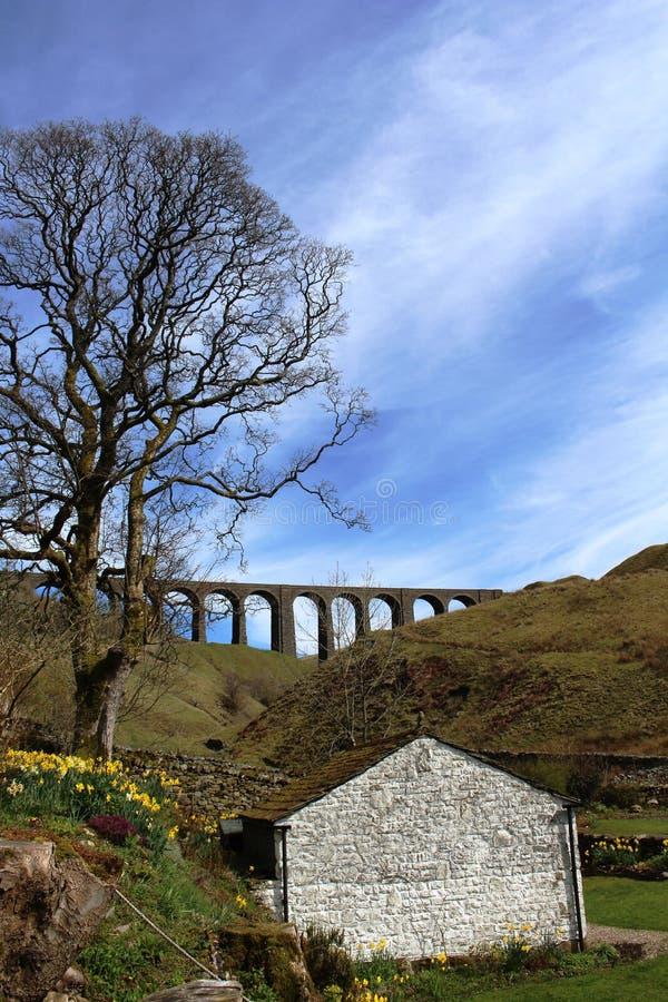 Chemin de fer de Carlisle de banc à dossier de Dentdale de viaduc d'Artengill photographie stock