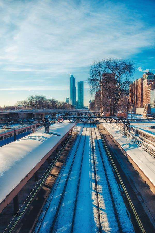 Chemin de fer de Chicago photos stock