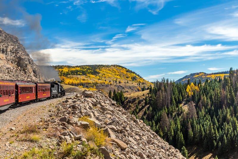 Chemin de fer de Cumbres et de Toltec photographie stock libre de droits