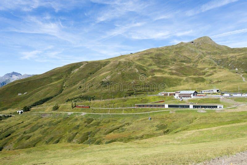 Chemin de fer de Jungfraujoch, Suisse image libre de droits