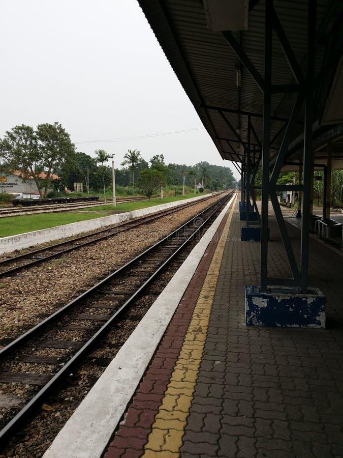 Chemin de fer de Kluang photos stock
