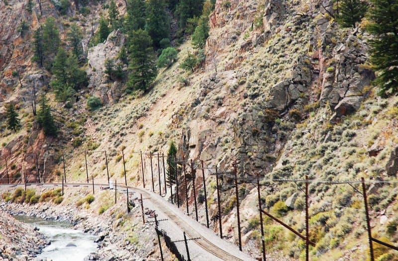chemin de fer de montagne au Nevada images libres de droits