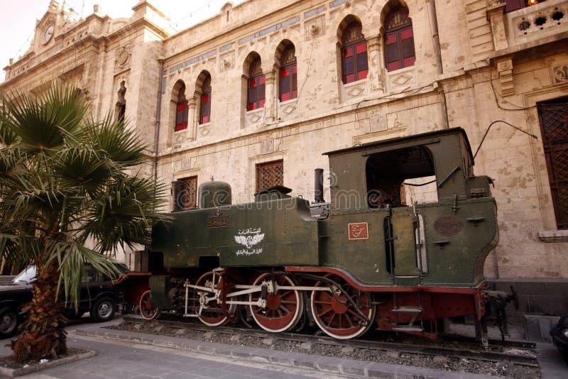CHEMIN DE FER DE MOYEN-ORIENT SYRIE DAMAS image stock