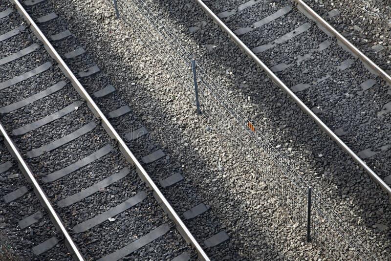 Chemin de fer diagonal photos libres de droits
