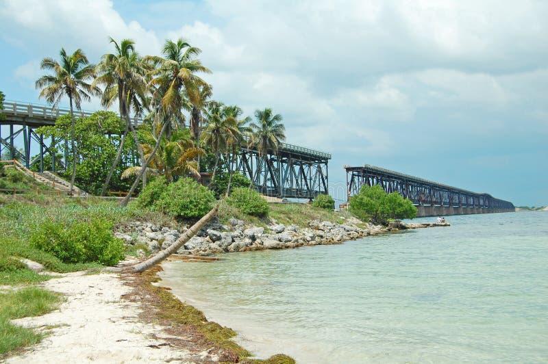 Chemin de fer du Bahia Honda Flagler photographie stock