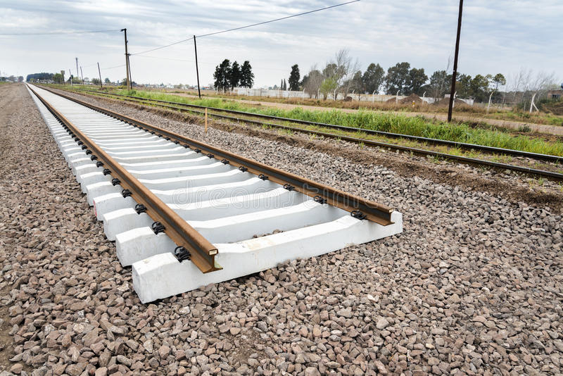 Chemin de fer en construction image libre de droits