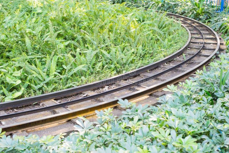 Chemin de fer en parc images stock