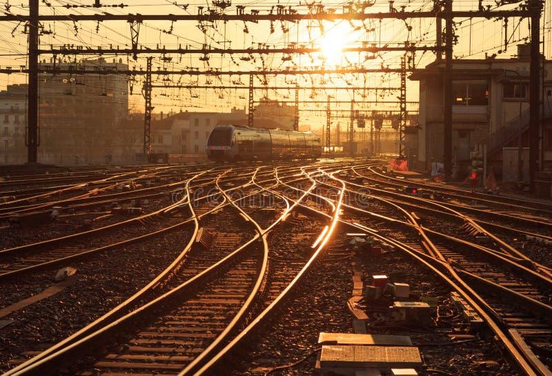 Chemin de fer ensoleillé photos libres de droits