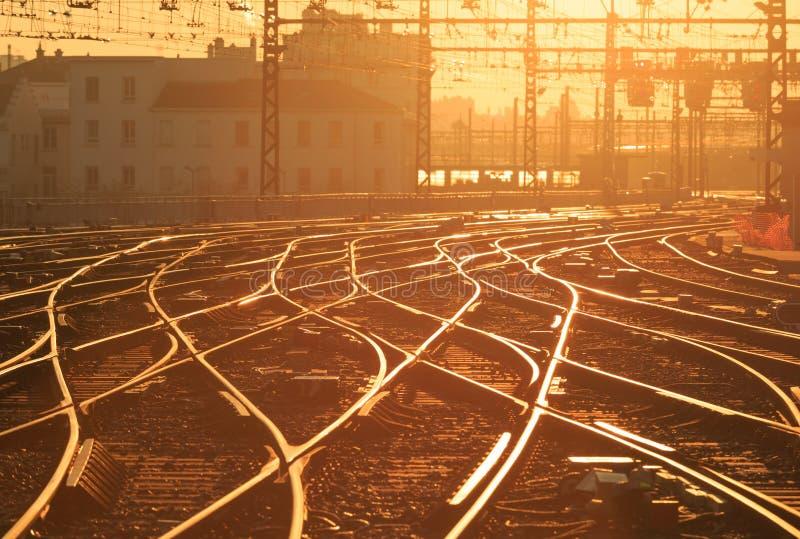 Chemin de fer ensoleillé image libre de droits