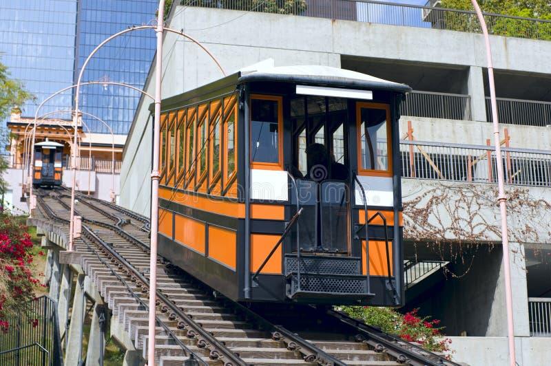 Chemin de fer funiculaire à Los Angeles images libres de droits