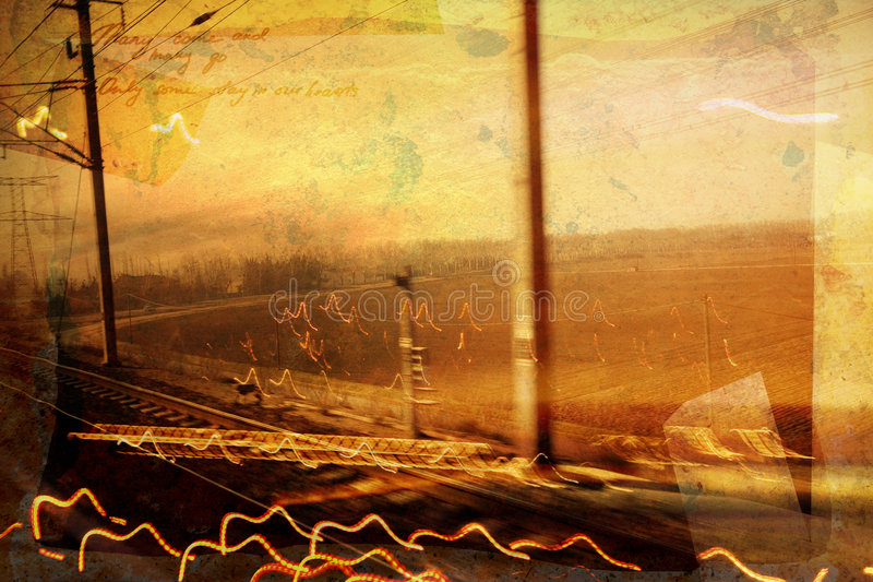 Chemin de fer grunge illustration de vecteur
