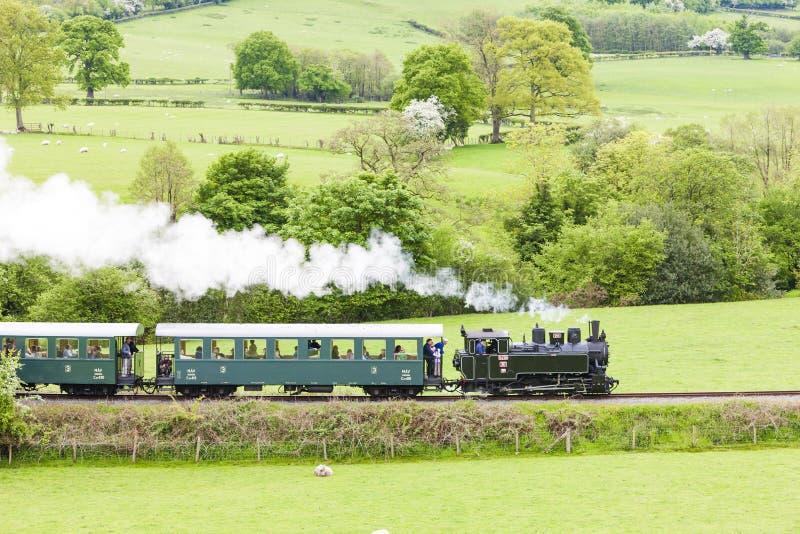 Chemin de fer de lumière de Welshpool et de Llanfair, Pays de Galles photos libres de droits