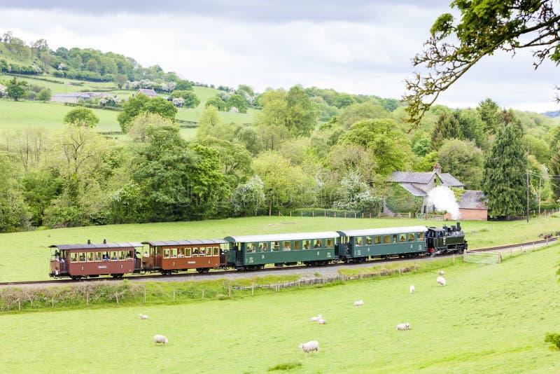 Chemin de fer de lumière de Welshpool et de Llanfair, Pays de Galles image libre de droits